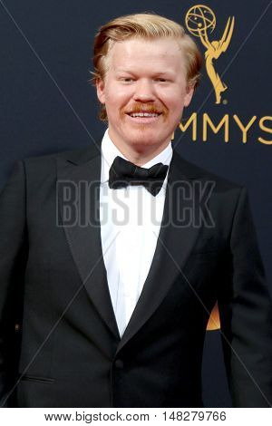 LOS ANGELES - SEP 18:  Jesse Plemons at the 2016 Primetime Emmy Awards - Arrivals at the Microsoft Theater on September 18, 2016 in Los Angeles, CA