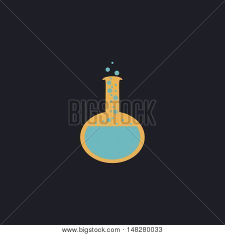 tube Color vector icon on dark background