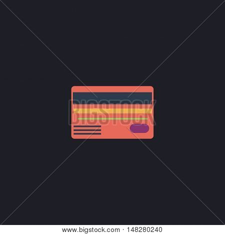 Credit card Color vector icon on dark background