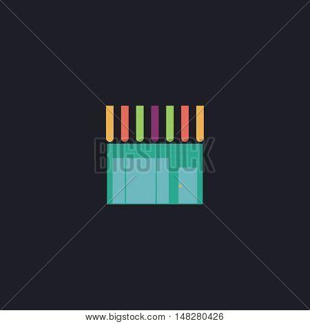 Shop Color vector icon on dark background