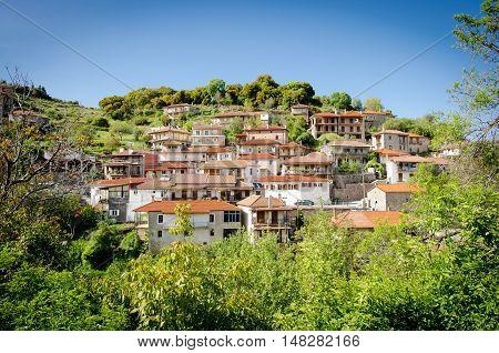 Springtime in Baltessiniko village. Arcadia Peloponnese Greece