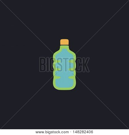 water bottle Color vector icon on dark background