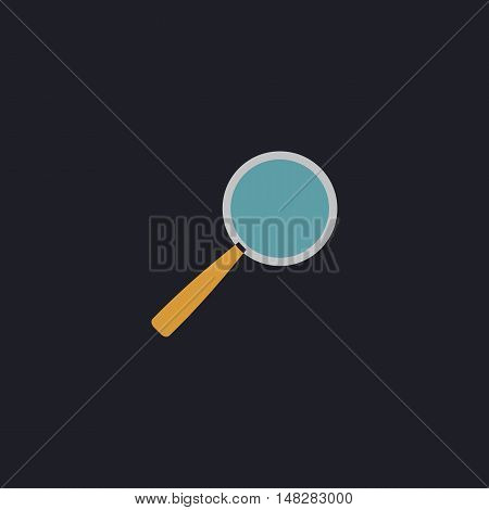 Magnify Color vector icon on dark background