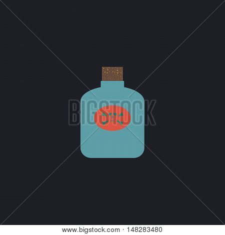 Poison Color vector icon on dark background