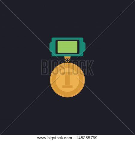 award Color vector icon on dark background