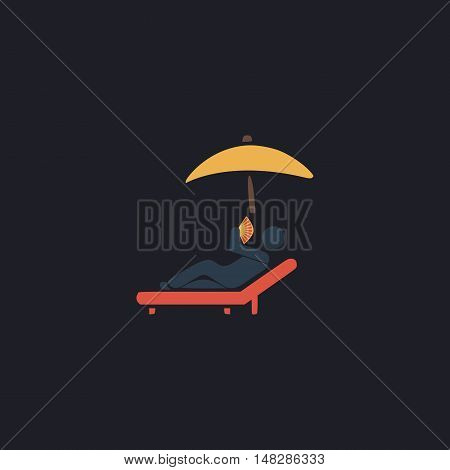 Relax Color vector icon on dark background