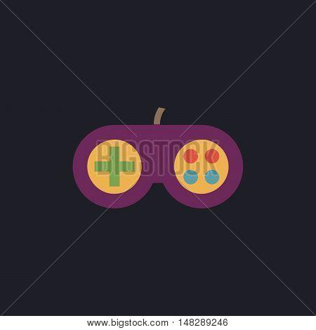 Joystick Color vector icon on dark background