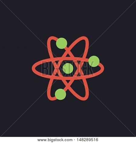 atom Color vector icon on dark background