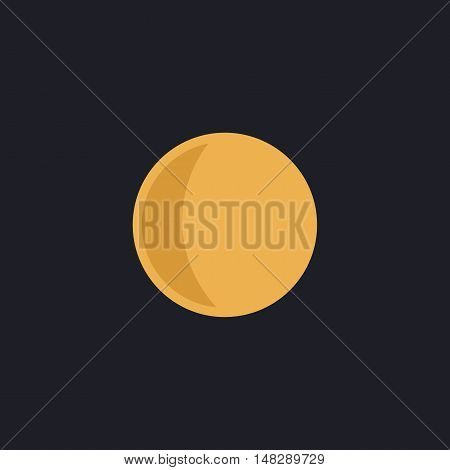 lunation Color vector icon on dark background
