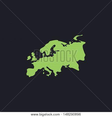Eurasia Color vector icon on dark background