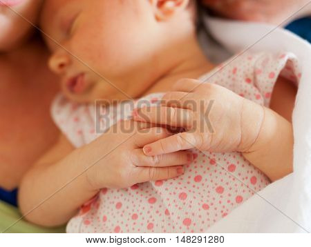 Close Of Small Hands