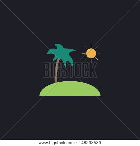 isle Color vector icon on dark background