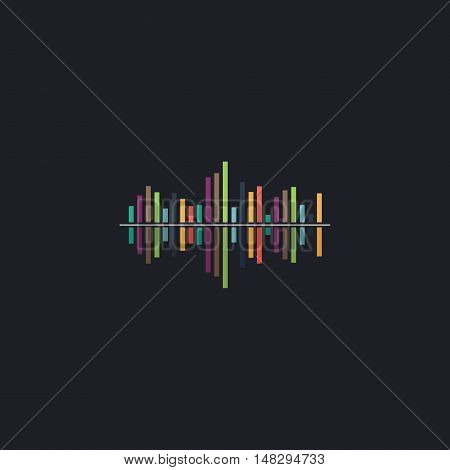 soundwave Color vector icon on dark background