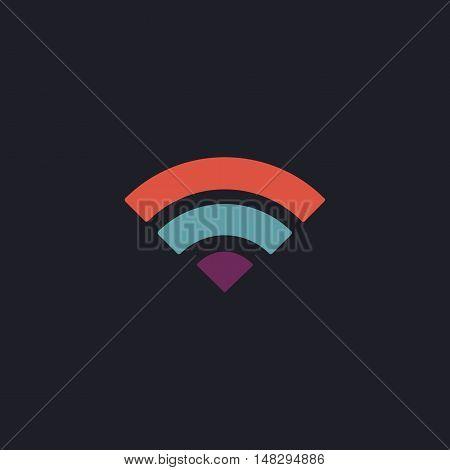 wifi Color vector icon on dark background