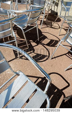Summer Chairs And Shadows