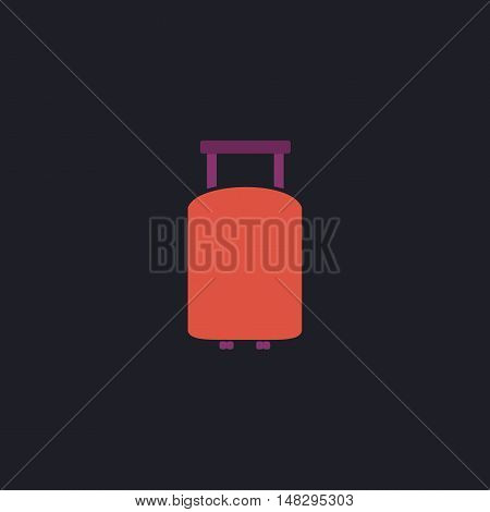 Suitcase Color vector icon on dark background