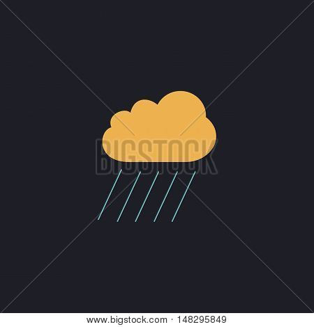 rain Color vector icon on dark background