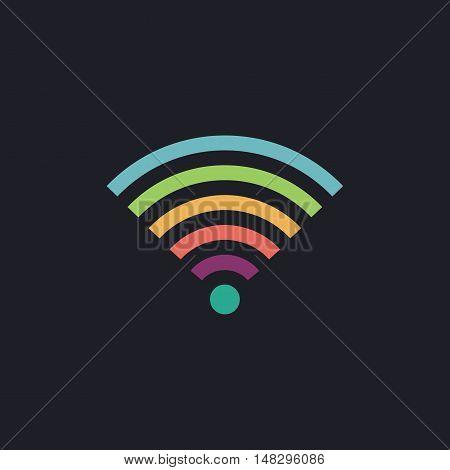 Wireless Color vector icon on dark background