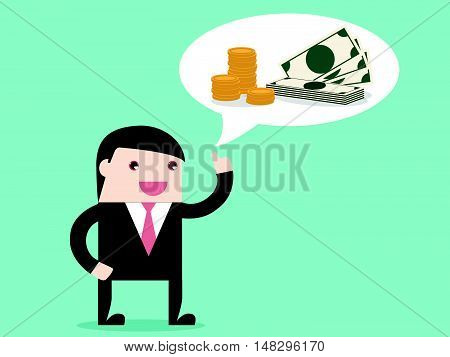 Executive Businessman Thinking About Money