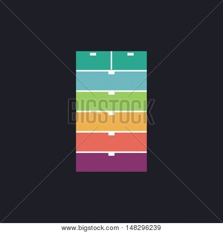 archive Color vector icon on dark background