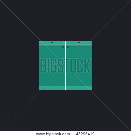 Drawer Color vector icon on dark background
