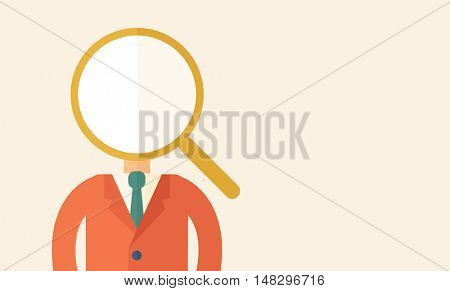 Looking For A Best Man. A contemporary style with pastel palette, beige tinted background. flat design illustration. Horizontal layout with text space on right part.