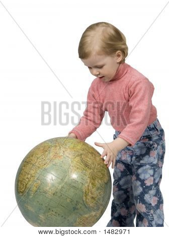 Baby And Globe poster