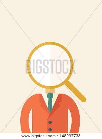 Looking For A Best Man. A contemporary style with pastel palette, beige tinted background. flat design illustration. Vertical layout with text space on top part.