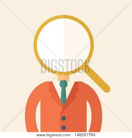 Looking For A Best Man. A contemporary style with pastel palette, beige tinted background. flat design illustration.