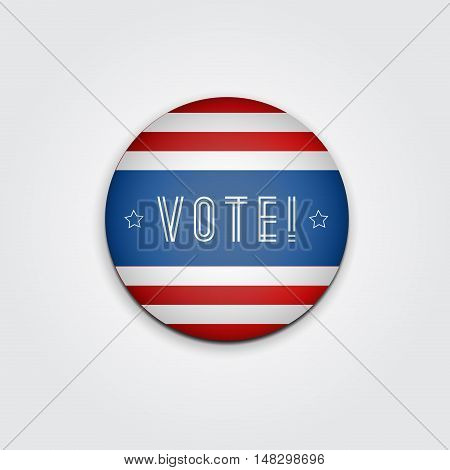 Badge Vote. US presidential election in 2016