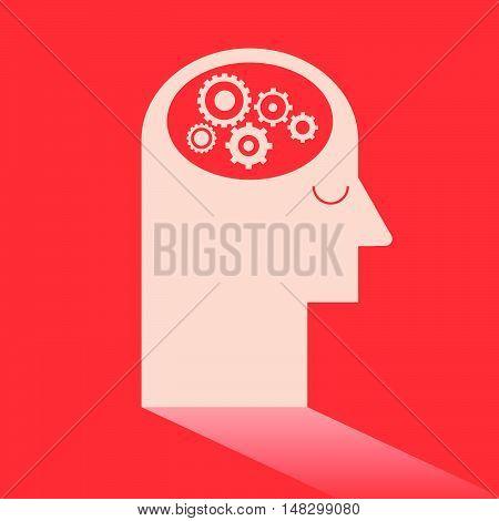 Gear In Brain Like Ideas And Imagination