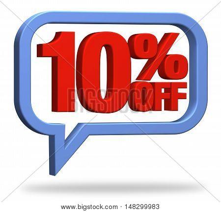 3D rendering 10% discount deduction rebate percentage