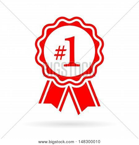 Number one award seal vector illustration isolated on white background