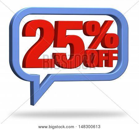 3D rendering 25% discount deduction rebate percentage