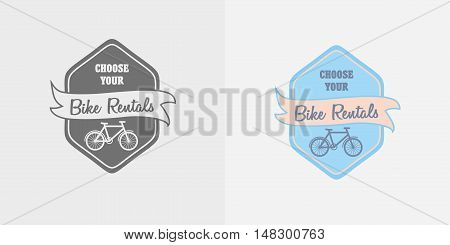 Vector Label, Logo Or Symbol Of Bike Rent Company