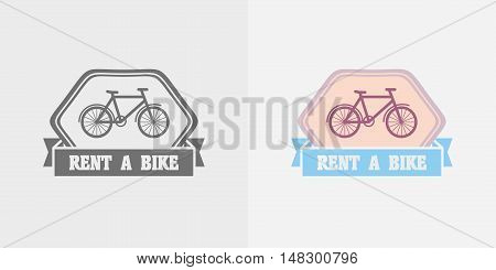 Bike Rentals Vector Logo, Label Or Badge Design Template.