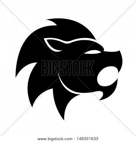 Black leo isolated on white