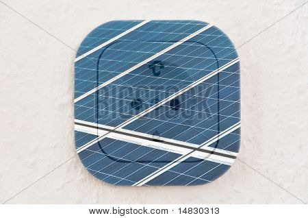 Conceptual: Solar Panels over Power Outlet With Path