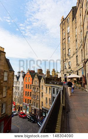 View Of Victoria Street In Edinburgh, Scotland