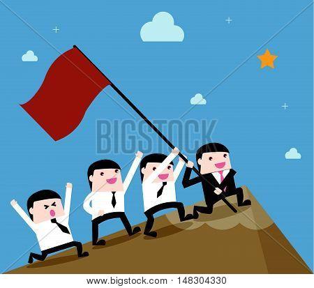 Leadership Businessman Teamwork