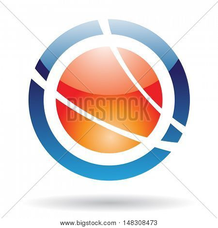 Abstract orbit icon and design element