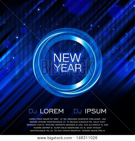 New Year Party Flyer, Club Party Flyer, Vector Design