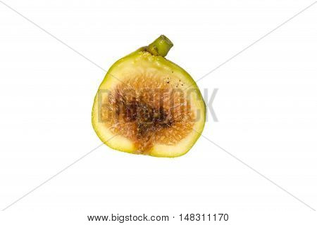 Rotten fig isolated on a white background