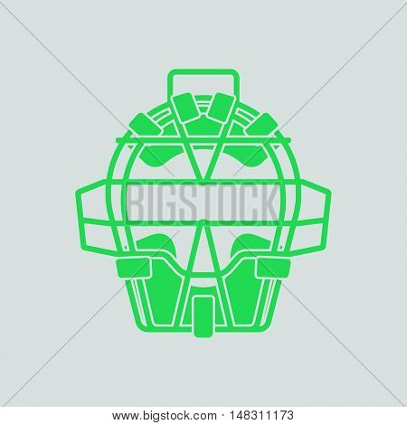 Baseball Face Protector Icon