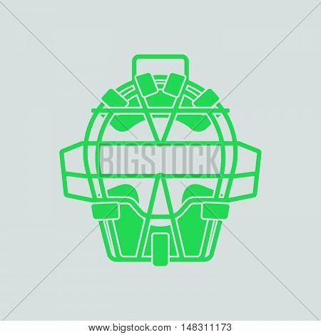 Baseball Face Protector Icon