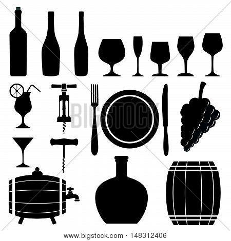 Set Of Wine Restaurant