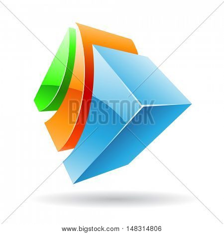 3d colorful cubic icon and design element