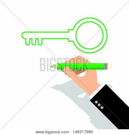 Hand Drawing The Key