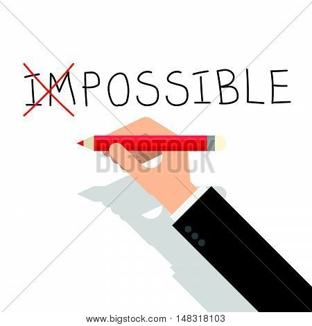 Never Say Impossible If Want To Success