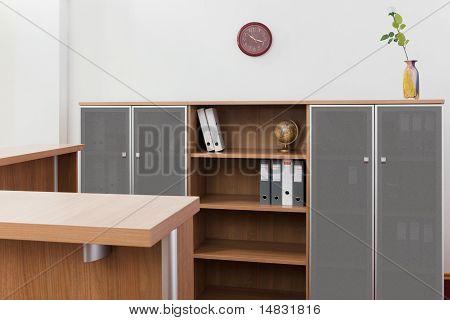 Reception Desk And Bookcase
